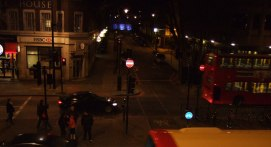 Winter evening, Euston Road, London.