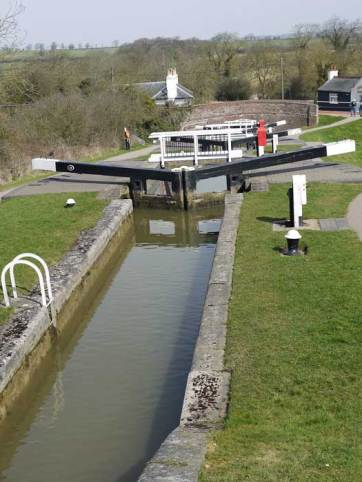 Looking down the bottom 5 lock gares