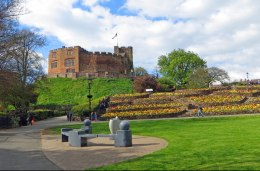 Tamworth Castle from the Pleasure Gardens.