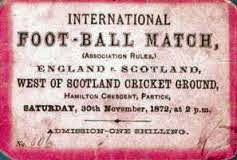 1872 the first international football match between England Scotland ended in a draw.