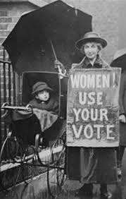 Women voted in UK General Election in 1918.