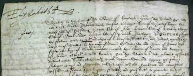 Queen Elizabeth I signed the death warrant of Mary, Queen of Scots in 1587.