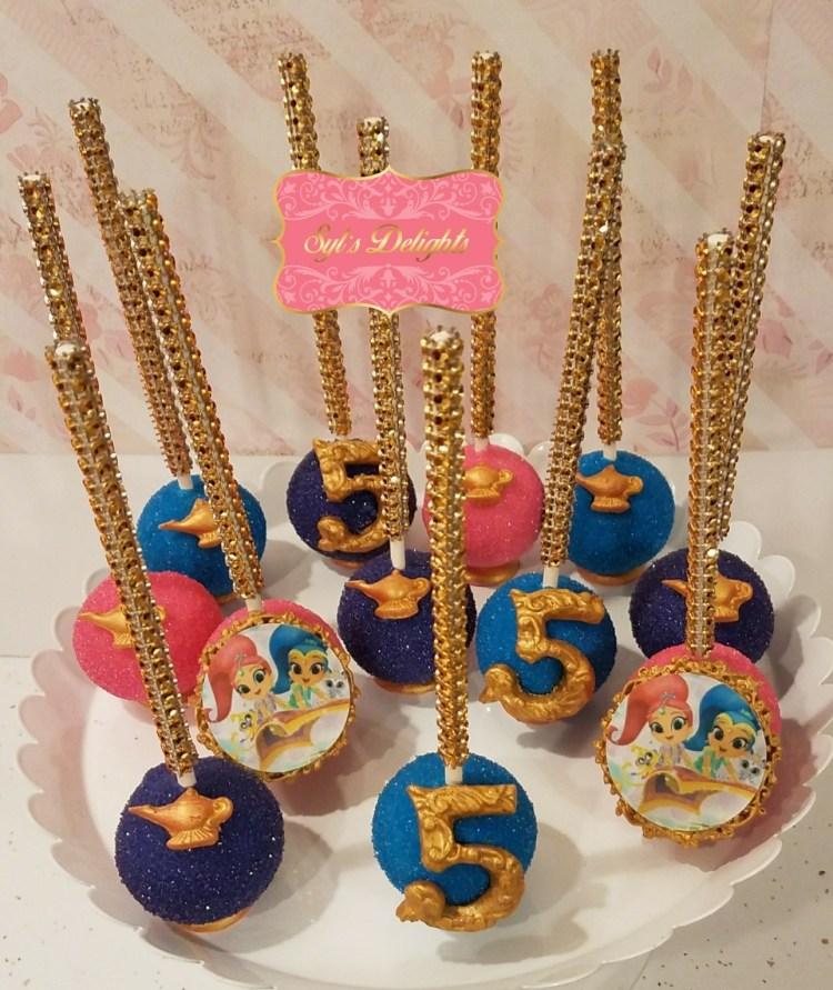 Shimmer & Shine cake pops