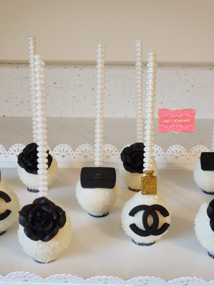 Fashion inspired cake pops