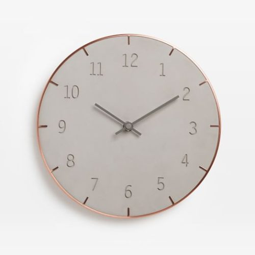 umbra-piatto-wall-clock-cement-c