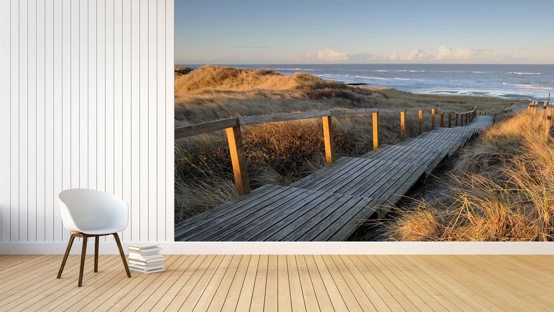 Fototapete Schlafzimmer mit traumhaften Strand, Meer, Dünen Motiven