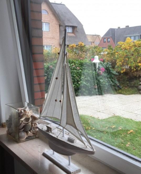 Segelschiff und Muscheln Sylt Zuhause