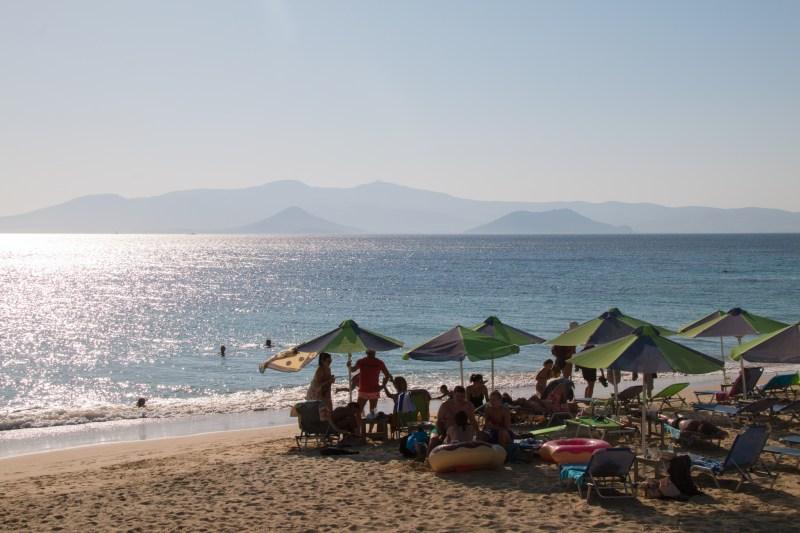 Plage de plaka, à Naxos.