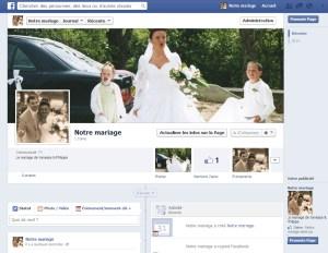 La page facebook de votre mariage