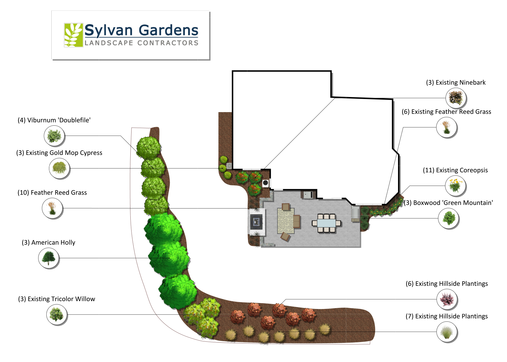Backyard 2D Planview Design