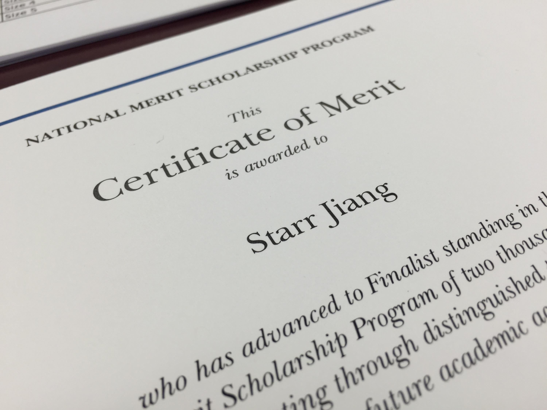 Congratulations National Merit Finalist @StarrJiang