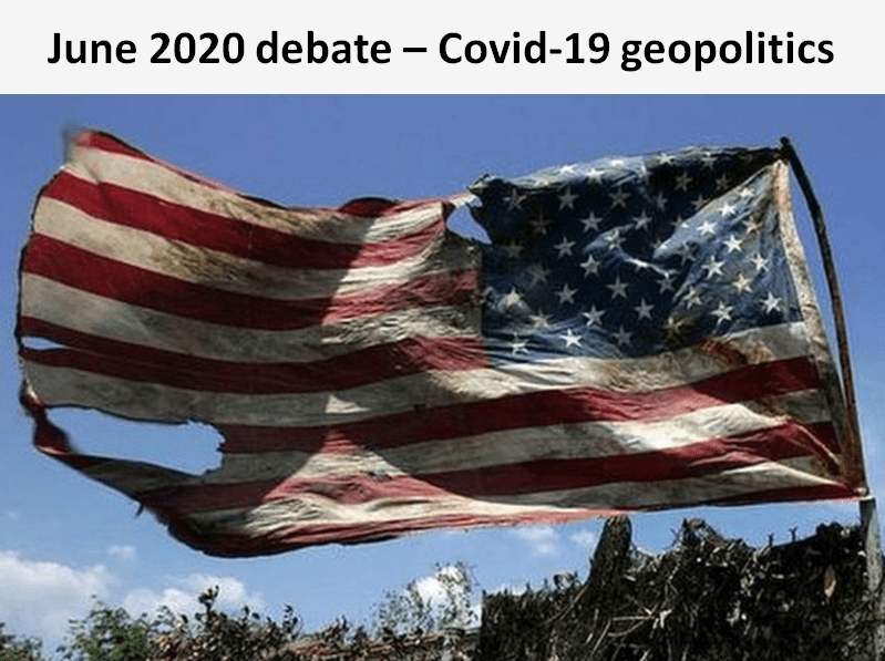 In this Covid-19 geopolitics debate, the Sylvans concluded that the pandemic will accelerate the decline of America as the global superpower.
