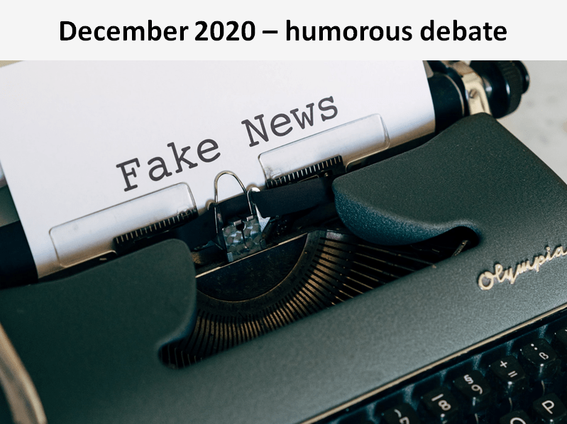 In this humorous debate, the Sylvans considered whether 2020 was a hoax, concluding that unfortunately the year 2020 was all too real!