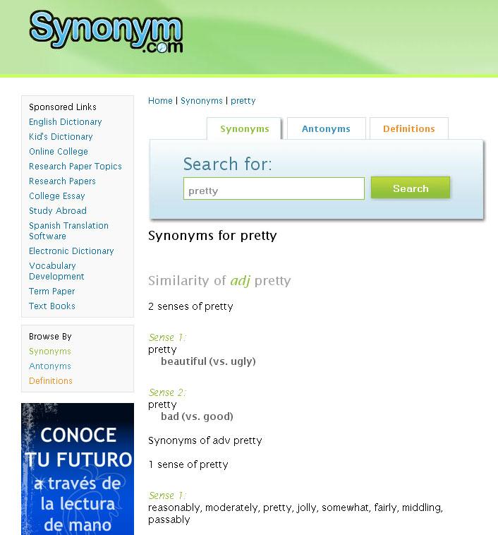 synonyms pretty  karamba