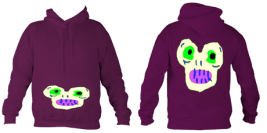 Kid'sMagicMonster College Hoodie (Plum) £32.99 Sizes: 5- 6, 7-8, 9-10, 11-12, 12-14 years old