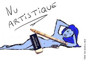 """""""Nu Artistique"""" (série """"Nanas au poil!"""")"""