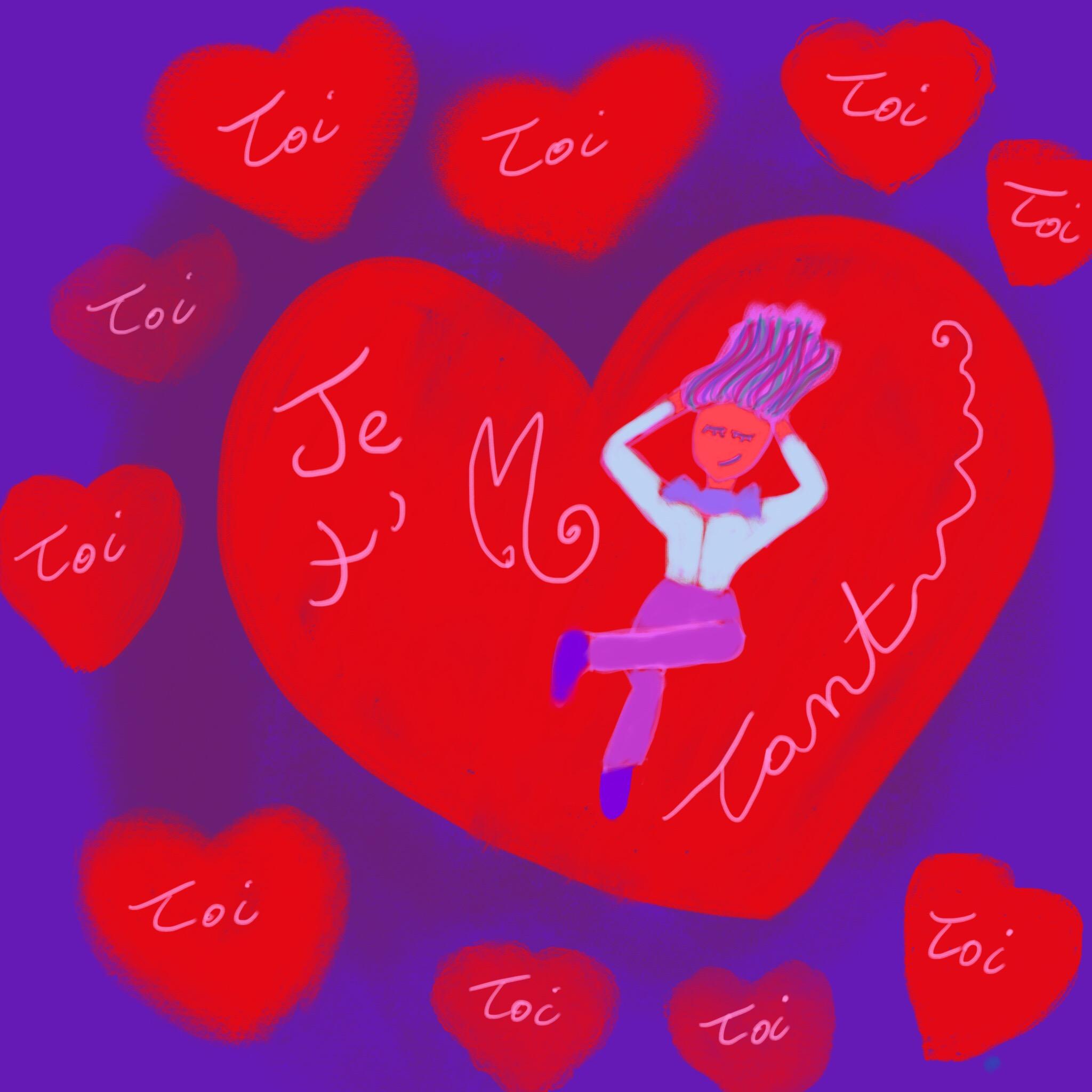 """Je t'M toi"" : Dessin coeurs, inspirations libres"