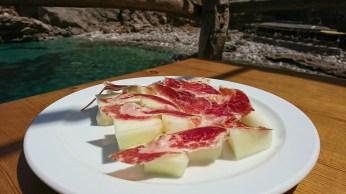 Melone mit Serrano Schinken