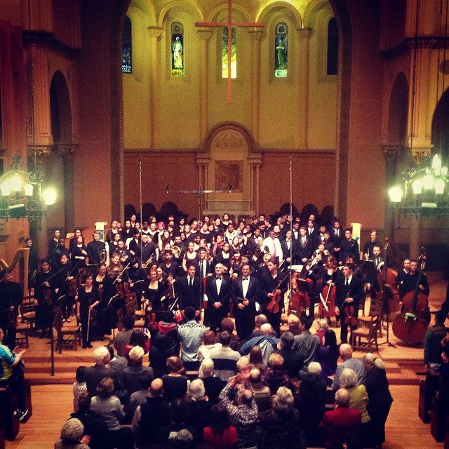 Faure's Requiem, Cambridge, MA. Geoffrey McDonald conducting. Longy Chorale and Longy Conservatory Orchestra, with members of the Cambridge Rindge and Latin chorus.
