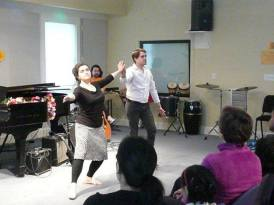 """""""Happy Spring!"""" Dalcroze plastique animée performance. Choreographed and danced with Sammo Gabay. Winchester Community Music School, 2014"""