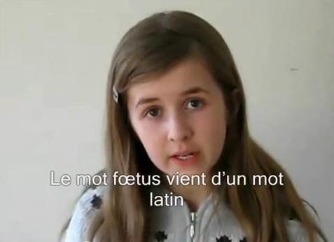 Une petite fille de 12 ans parle de l'avortement !!! Wow