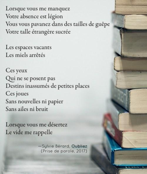 Un Poème Thabille Les Pages Littéraires De Sylvie Bérard