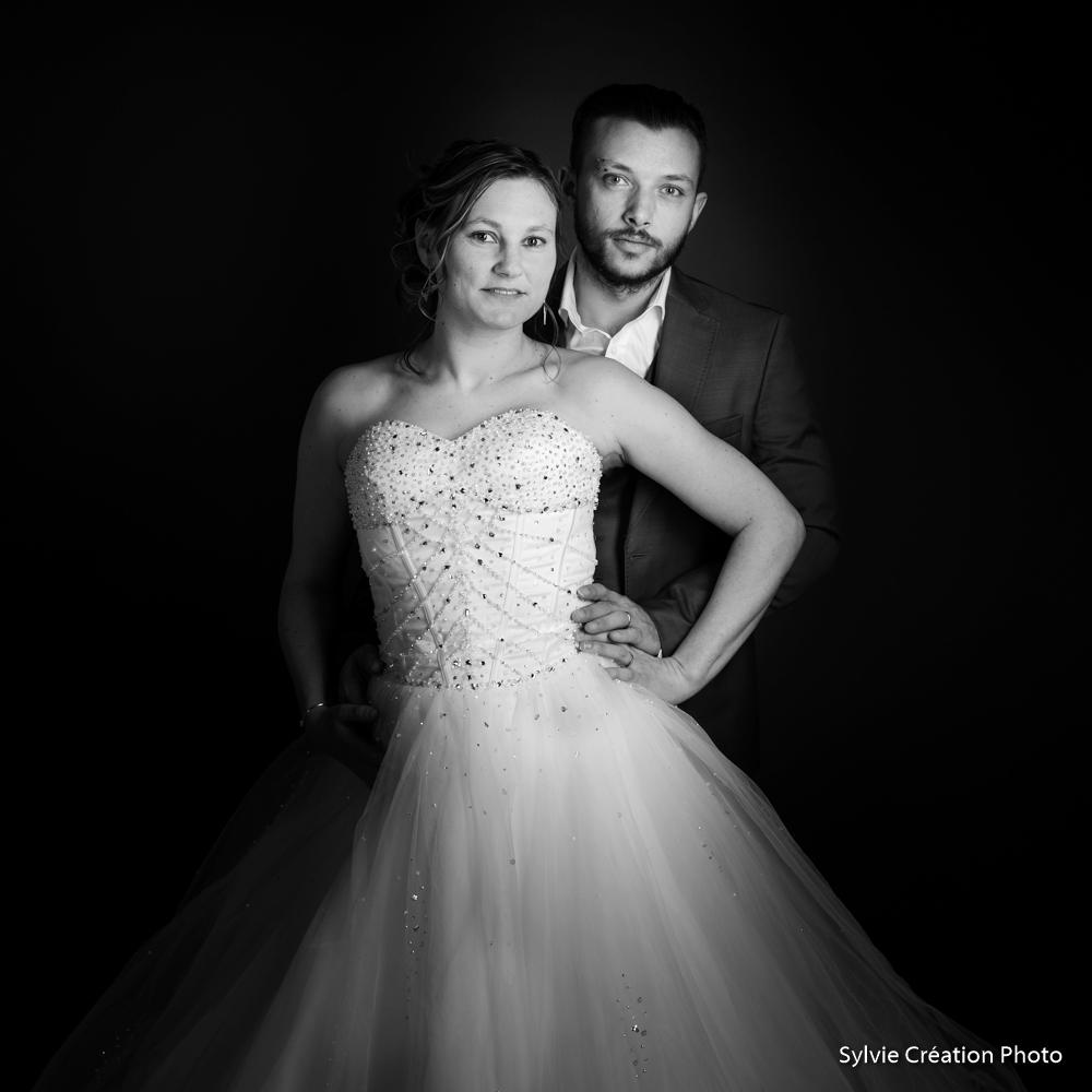 couple le marié photo de mariage Portrait lisieux la robe