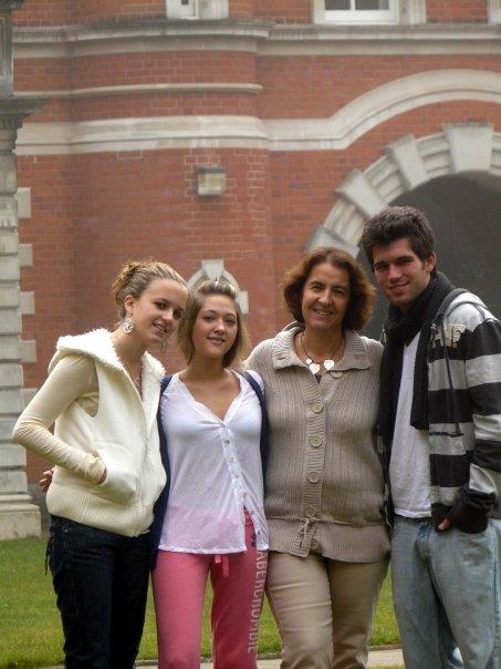 Ma fille Steph, Julie P. et moi avec Ethan B.