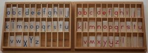 Montessori alphabets mobiles.