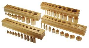 Les blocs des cylindres à boutons.