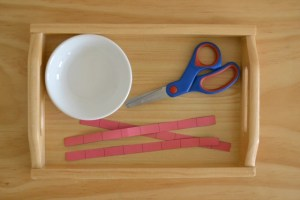 Montessori comment découper