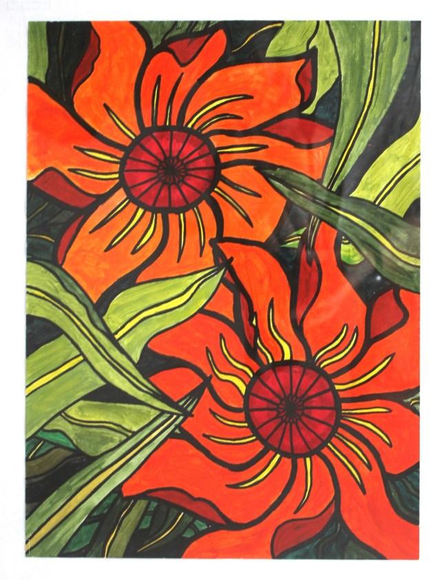 Fleurs couleurs chaude et froide Inès