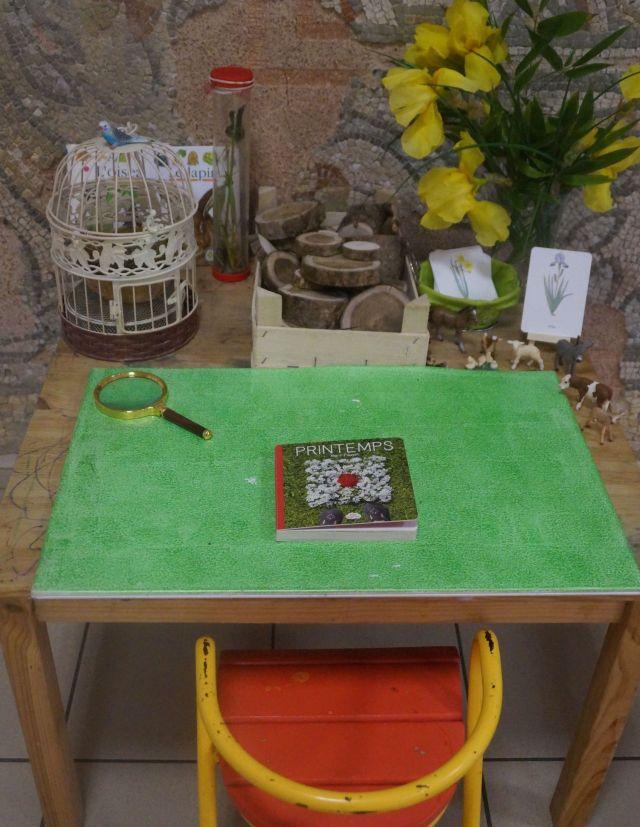 Montessori table de nature