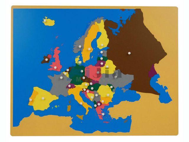 La carte puzzle de l'Europe