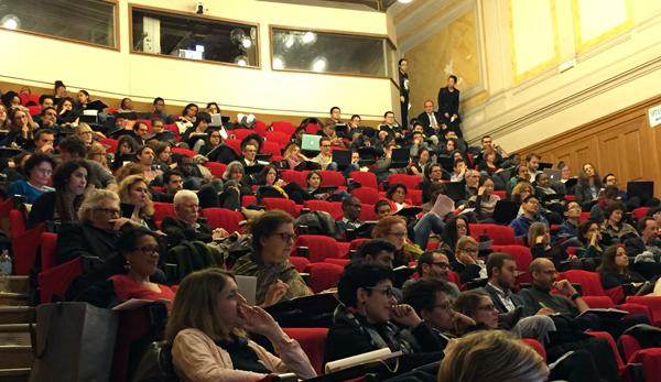 L'amphithéâtre Abbé Grégoire du CNAM pour le colloque Enjeux de la #COP21 pour la transformation des métiers et la conduite du changement