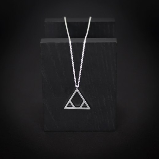 Him silver necklace
