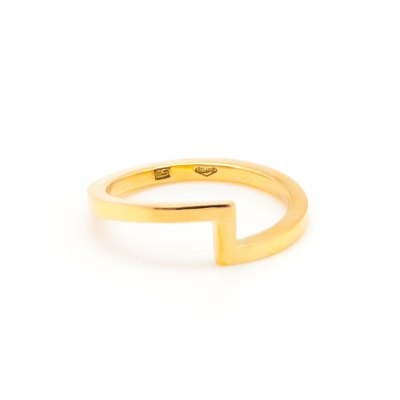 Mind The Gap gold ring