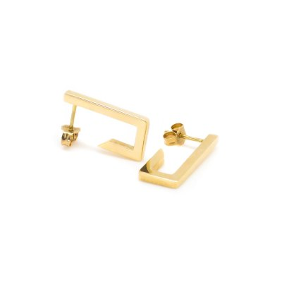 Mind The Gap short gold earrings
