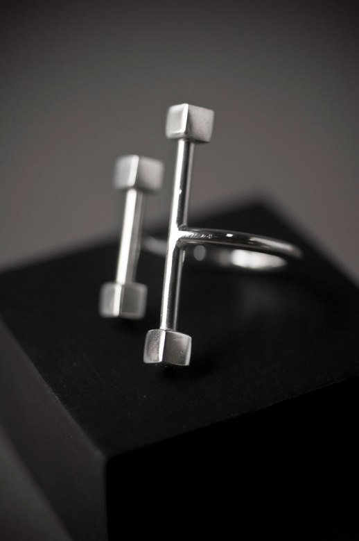Curve silver ring IV