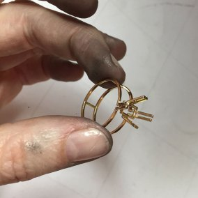 Custom made amethyst and gold ring