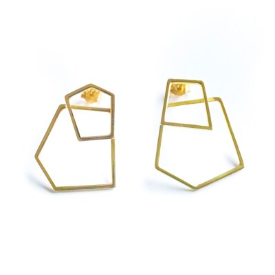 Frost gold earrings