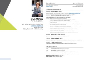Sylvie Moreau architecte CV Paris 9 AdisA