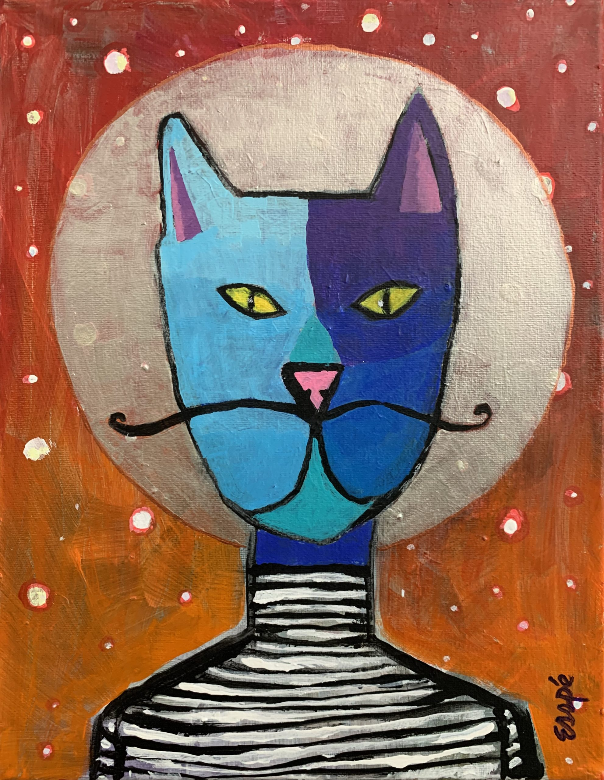 Dali's cat (from memory)