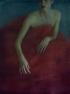 Divine #4 (2013) Technique mixte, numérique et Polaroid. LiLiROZE. Courtoisie Galerie Carole Decombe