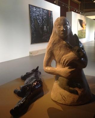 Le Renard du Cheshire, 2007 - Céramique émaillée, Manufacture Nationale de Sèvres - présenté par la Semiose Galerie