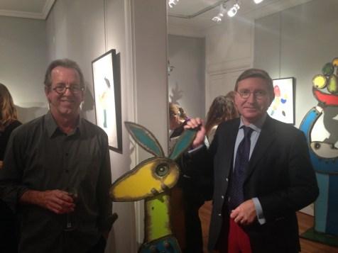 John Martini et Antoine Laurentin... avec le lapin aux oreilles qui bougent...