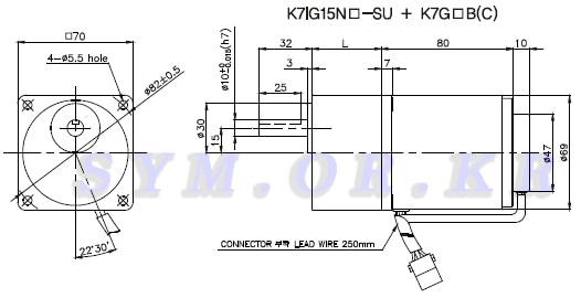 15W ㅁ70 단상 200-240V 속도제어 기어드 인닥션 모터 15W 박스타입 기어박스 부착,AC 모터