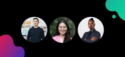graphic with headshots of AAPI LinkedIn Live panelists