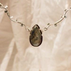 Collier 54 cm - pierre Labradorite