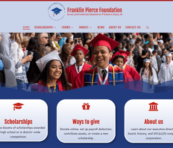 screenshot of franklinpiercefdn.org
